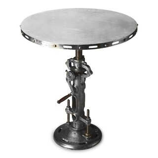 Handmade Butler Industrial Silver-colored Iron Hall/Pub Table (India)