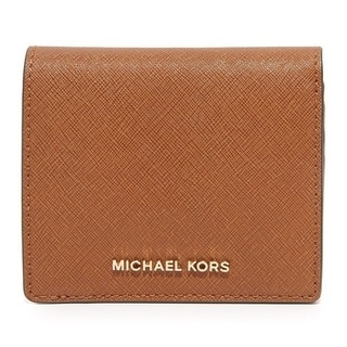 Michael Kors Jet Set Travel Luggage Brown Carryall Card Case