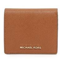 Michael Kors Jet Set Travel Luggage Brown Carryall Card Case