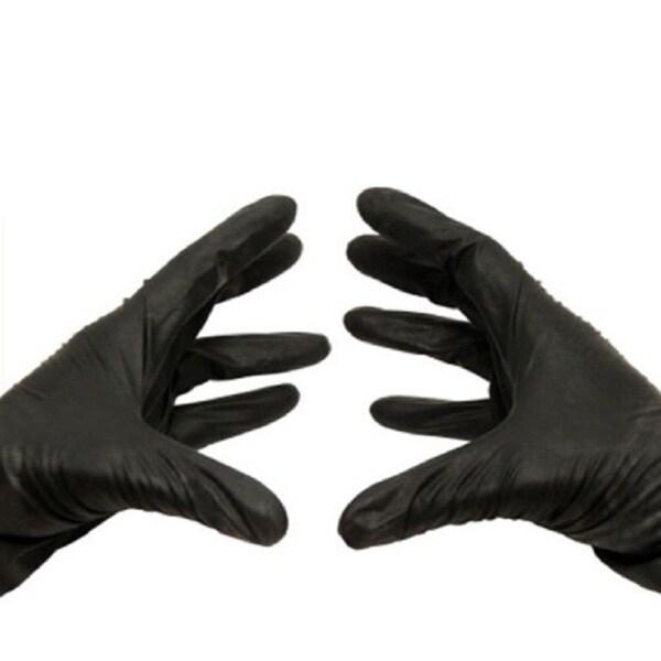 PSBM Black Nitrile 4-millimeter Medical Exam Powder-free Gloves (Case of 6000)