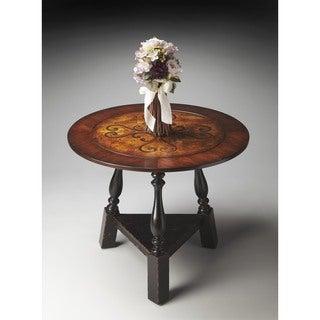 Butler Black/Tan Inlay Foyer Table