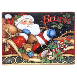 Certified International 'The Night Before Christmas' Rectangular Platter