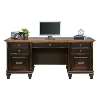 Hatherford Distressed Black Wood Credenza