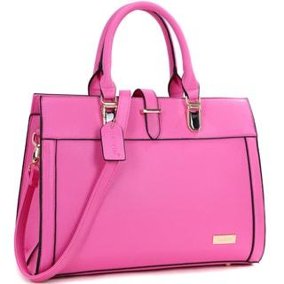 Dasein Faux Leather Work Satchel Handbag