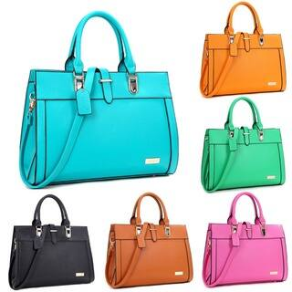Dasein Faux Leather Work Satchel Handbag|https://ak1.ostkcdn.com/images/products/12073599/P18940762.jpg?impolicy=medium