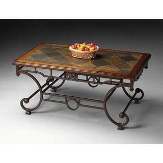 Butler Metalworks Metal Slate/Pine Cocktail Table