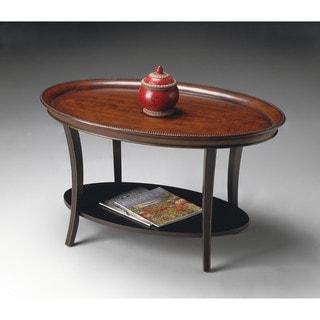 Butler Hamlet Cafe Noir Oval Cocktail Table