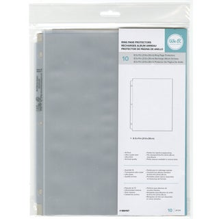 "We R Ring Photo Sleeves 8.5""X11"" 10/Pkg"