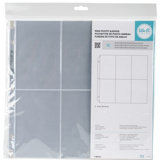 "We R Ring Photo Sleeves 12""X12"" 10/Pkg"