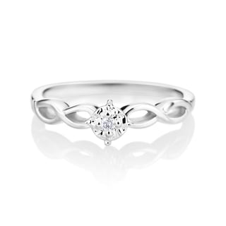 SummerRose 14k White Gold Diamond Accent Vine Promise Ring