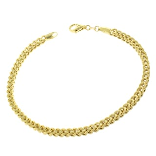 10k Yellow Gold 3.5-millimeter Hollow Franco Bracelet Chain