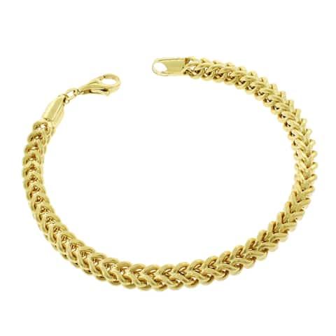 "10k Yellow Gold 5.5mm Hollow Franco Link Bracelet Chain 9"""