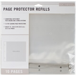 """K&Company Page Protector Refills 8""""X8"""" 10/Pkg"""