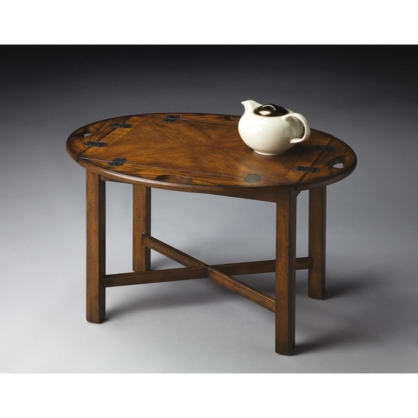 Handmade Butler Carlisle Vintage Oak End Table