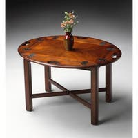 Butler Traditional Oval Plantation Cherry Table - Dark Brown