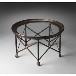 Butler Richton Glass and Metal Cocktail Table