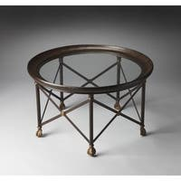 Handmade Butler Richton Glass and Metal Cocktail Table (China)