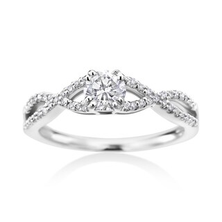 SummerRose 14k White Gold 5/8ct TDW Diamond Ring
