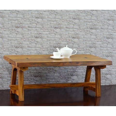 222 Fifth Ori Natural Acacia Live Edge Coffee Table