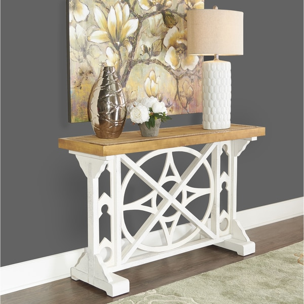 Shop Powell Nautical Wood Console Table Free Shipping