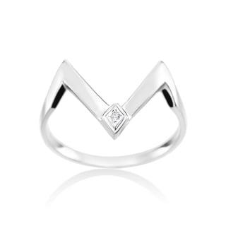 SummerRose, 14k White Gold Fashion Diamond Ring 0.01ct (H-I, SI2-I1)