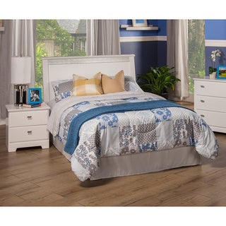 Sandberg Furniture Hailey White Laminate MDF Twin Panel Headboard