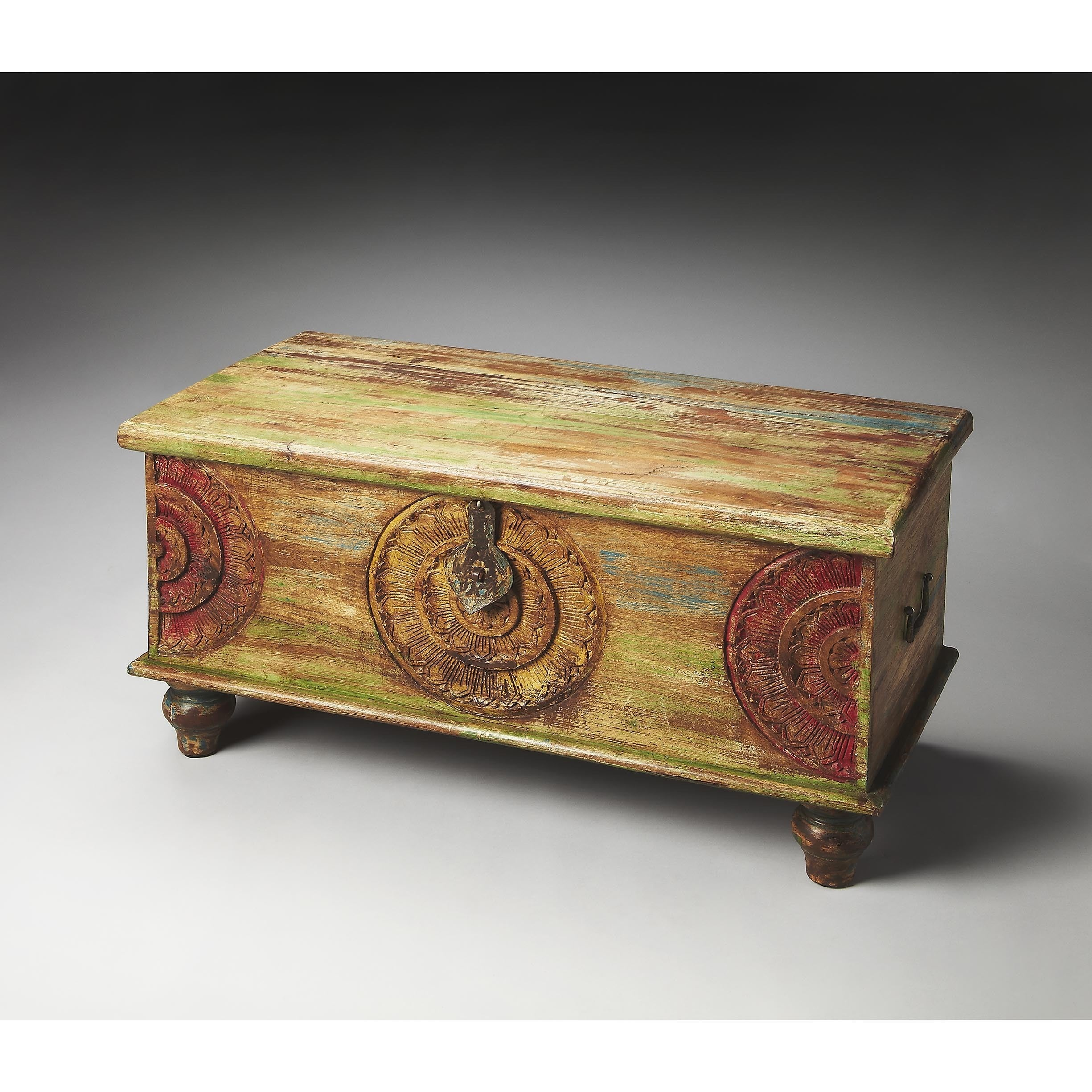 - Shop Handmade Mesa Carved Wood Trunk Coffee Table (India