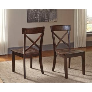 Signature Design by Ashley Gerlane Brown Dining Room Side Chair (Set of 2)