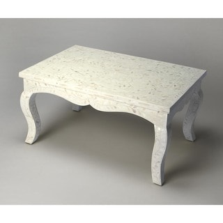 Butler White Wood/MDF/Resin Bone Inlay Cocktail Table