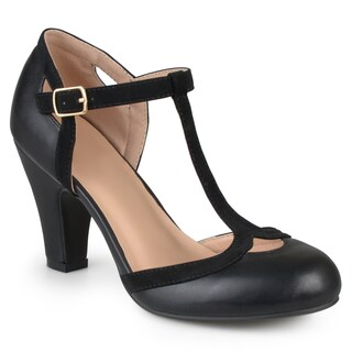 Journee Collection Women's 'Olina' T-strap Round Toe Mary Jane Pumps (More options available)