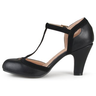 Journee Collection Women's 'Olina' T-strap Round Toe Mary Jane Pumps