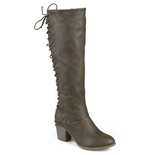 Journee Collection Women's Regular and Wide-Calf 'Amara' High Heel Lace-up Boots