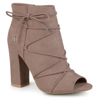 Journee Collection Women's 'Maci' Peep Toe High Heel Boots