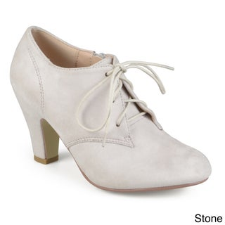 Journee Collection Women's 'Leona' Vintage Round Toe Lace-up Booties (More options available)