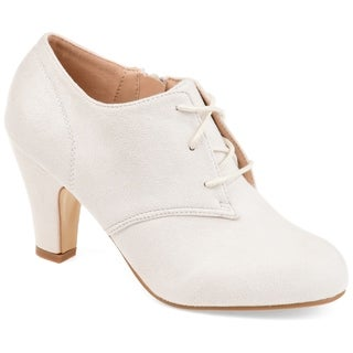 Link to Journee Collection Women's 'Leona' Vintage Round Toe Lace-up Booties Similar Items in Women's Shoes