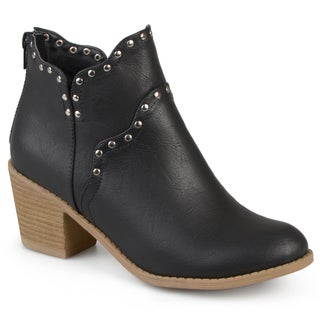 Journee Collection Women's 'Krisla' Faux Leather Studded Boots