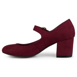 Journee Collection Women's 'Harlo' Mary Jane Faux Suede Pumps