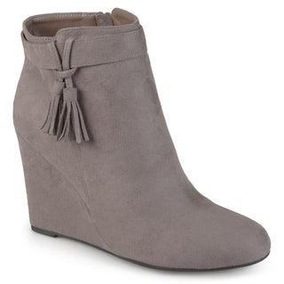 Journee Collection Women's 'Gia' Tasseled Wedge Booties