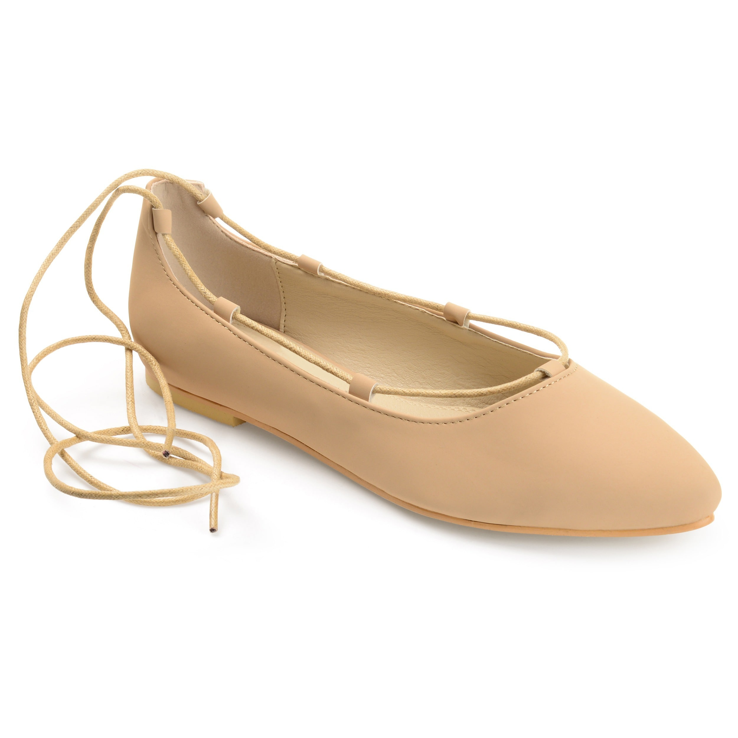 Journee Collection Women's 'Fiona' Lace-up Pointed Toe Ballet Flats (More  options
