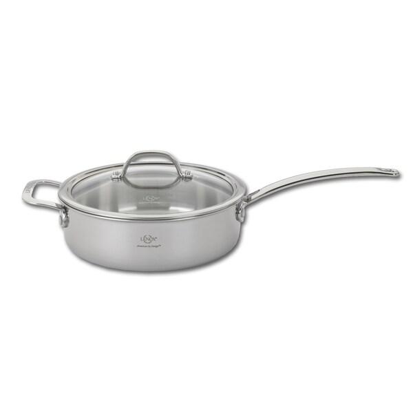 Shop L 12287 Tri Ply Silver 3 5 Quart Saute Pan And Lid