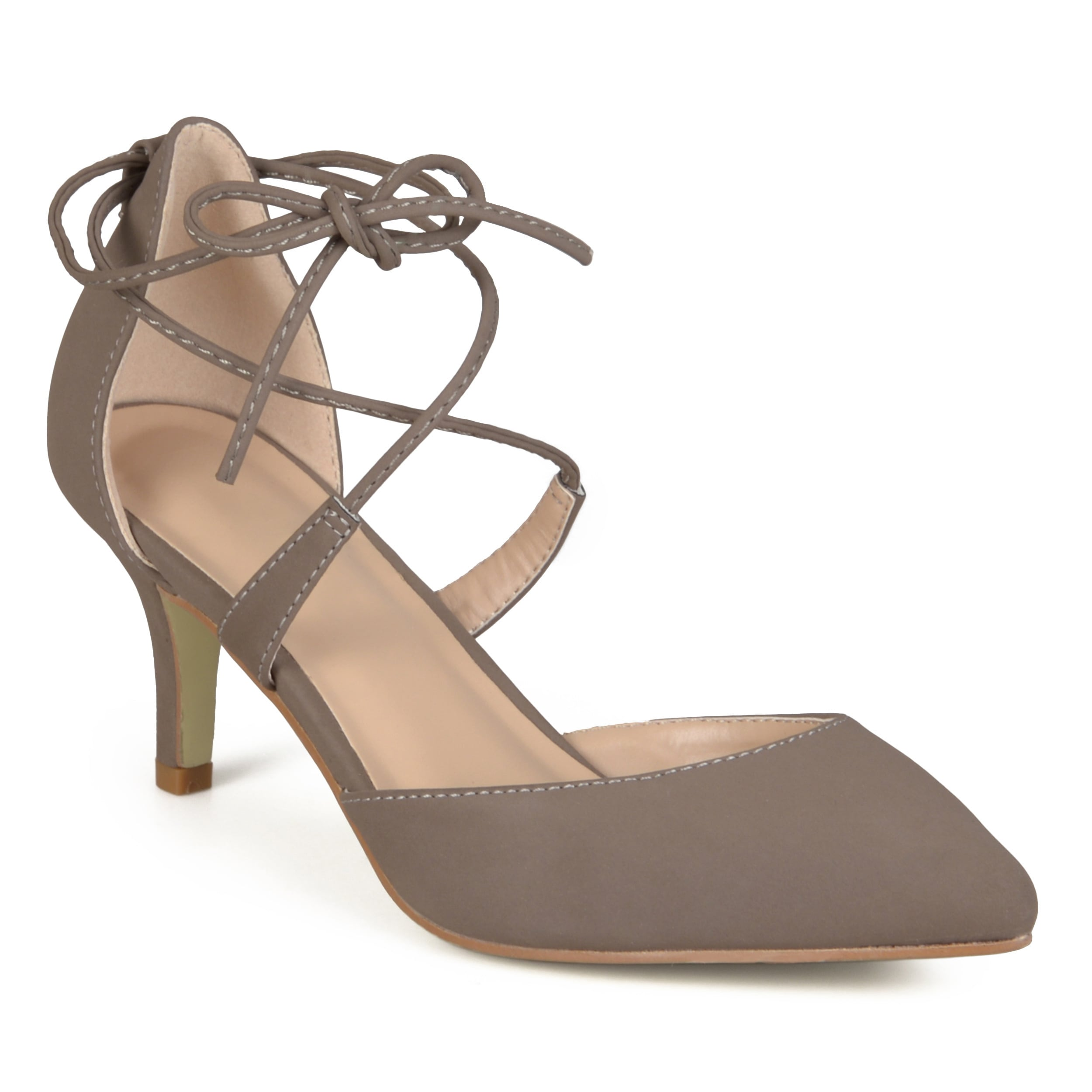 Journee Collection Women s  Cairo  Lace-up Ankle Strap Pointed Toe Pumps