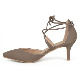 Journee Collection Women's 'Cairo' Lace-up Ankle Strap Pointed Toe Pumps