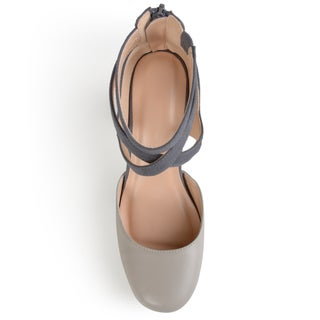 Journee Collection Women's 'Piett' Ankle Strap Round Toe Mary Jane Pumps