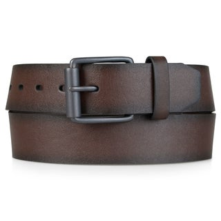 Levis Mens Bonded Leather 40 mm Logo Patch Belt