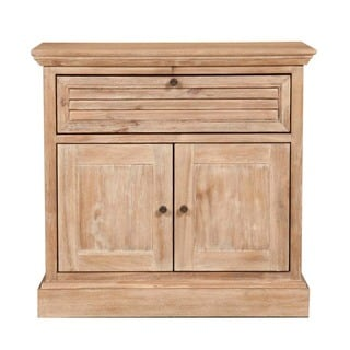Gray Manor Melanie Brown Distressed Wood Nightstand