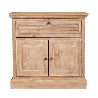 Gray Manor Melanie Brown Distressed Wood Nightstand