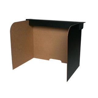 Flipside Black Cardboard 19-inch x 12-inch x 14-inch Desktop Privacy Screen (Case of 24)