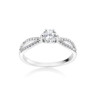 SummerRose 14k White Gold Diamond Ring 5/8ct TDW