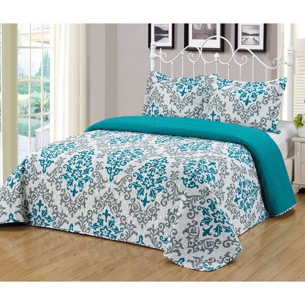 Journee Home 'Almeria' 3 piece Reversible Bedspread Set