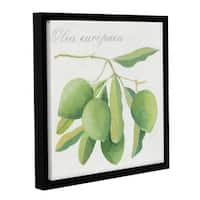 Jennifer Abbott's 'Green Olives' Gallery Wrapped Floater-framed Canvas